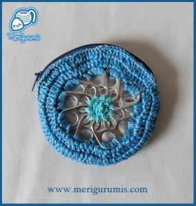 Monedero azul pequeño bis