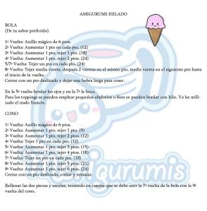 Amigurumi helado patrón