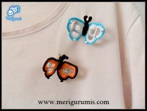 Mariposas broches anillas detalle