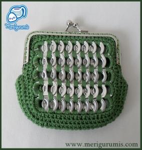 Monedero boquilla verde cuadradocuadrado