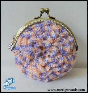 Monedero flor ganchillo 1