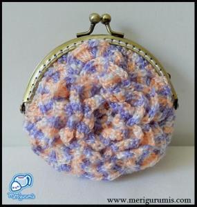 Monedero flor ganchillo 2
